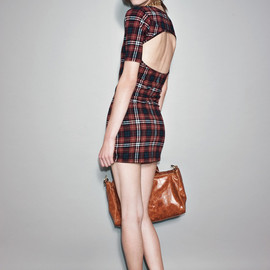 AY NOT DEAD - Tartan Backless Dress
