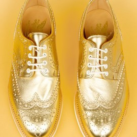MARK MCNAIRY new amsterdam - metallic brogue shoes