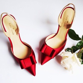 kate spade NEW YORK - red bow/heels