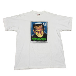 VINTAGE - Vintage 1997 USPS Boris Karloff Frankenstein Stamp Shirt Made in USA Mens Size XL