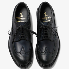 nonnative - DWELLER SHOE WING TIP COW LEATHER WITH GORE-TEX
