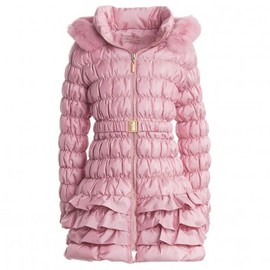 Miss Blumarine - Miss Blumarine Girls Pink Down Padded Coat | Childrensalon