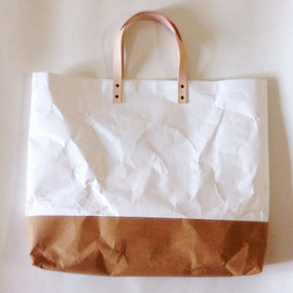 Belltastudio - Shopper Two tone kraft tyvek paper bag