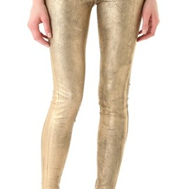 j brand - J Brand Super Skinny Coated Metallic Jeans