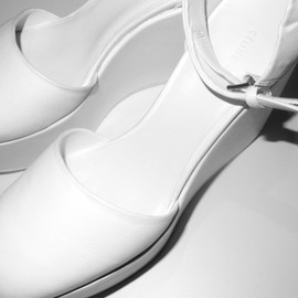 CELINE - White Platform Pumps