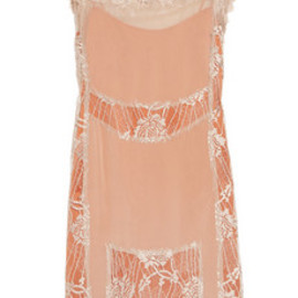 ALBERTA FERRETTI - Lace and silk-georgette dress