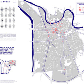 invader - INVASION OF GRENOBLE  INVASION MAP 03 THE WINTER MAP