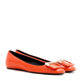 Roger Vivier - 10MM TWO TONE BUCKLE LEATHER BALLERINA
