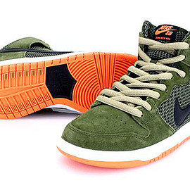 NIKE SB - Dunk Hi SB - Faded Olive/Black/Hyper Crimson