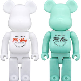 MEDICOM TOY - BE@RBRICK Fire-King 400%(WHITE / JADE-ITE)