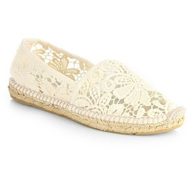 TORY BURCH - Tory Burch Jackie Lace Espadrille Flats