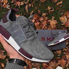 adidas, Champs Sports - NMD R1 - Grey/White/Maroon