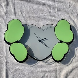 HECTIC × KAWS - HEART & CROSSBONE WALL CLOCK