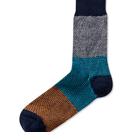 Happy Socks - Navy Wool Blend Sock