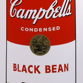 Andy Warhol - Title: Campbell Soup Can: Black Bean