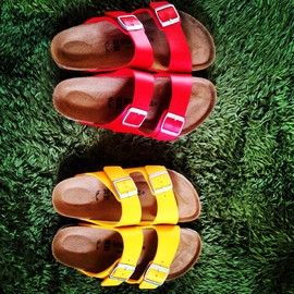 Birkenstock - ARIZONA red&yellow