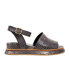 Dries Van Noten - SS2015 Snake Effect Sandals with Ankle Strap