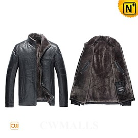 CWMALLS - CWMALLS® Navy Shearling Lined Jacket CW857032