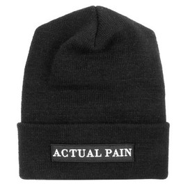 Actual Pain - Standard Academy Issue // Black Patch // Knit Hat