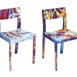 "DAMIEN HIRST - ""BEAUTIFUL VAINGLORIOUS SPIN CHAIR"" ""BEAUTIFUL POKER FACE SPIN CHAIR"""