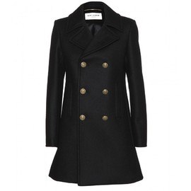 Saint Laurent Paris - DOUBLE-BREASTED WOOL COAT