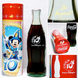 "Tokyo Disney Sea, Coca-Cola - 10th Anniversary ""Be Magical!"" Limited Bottle"