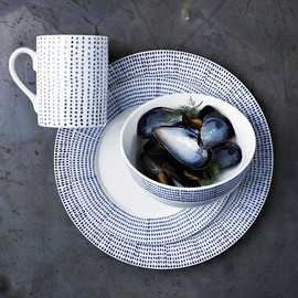 west elm - Hand-Painted Dotted Dinnerware Set