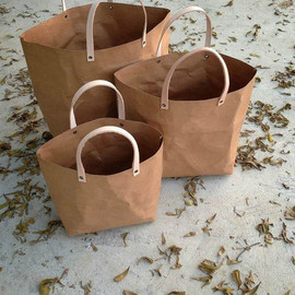 Belltastudio - Kraft fabric paper tote bag set