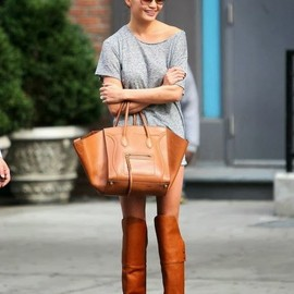 CELINE - Ceine bag & Over the knee boots.