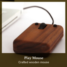 Hacoa - Cfafted wooden mouse