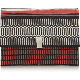 PROENZA SCHOULER - Lunch Bag large jacquard and leather clutch