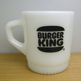 "Fire King - BURGER KING×KBBC FM ""BLACK BURGER KING"" ribbed bottom mug"