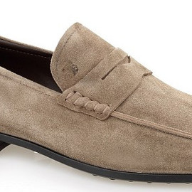 TOD'S - TOD'S Suede Penny Loafer