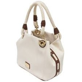 MICHAEL KORS - Marina Canvas - Off White Large