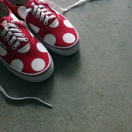 vans authentic, custom dot painted, - by chickennot