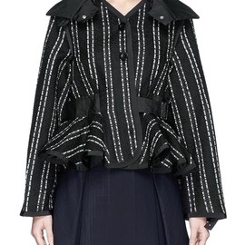 sacai luck - TWEED STRIPE BLOUSON JACKET