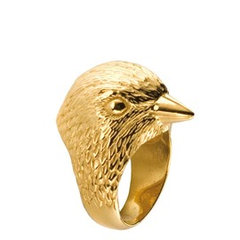 21DGRS  - BIRD GOLD PLATED RING
