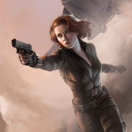 MERVEL - Black Widow SDCC 2011 exclusive concept art poster