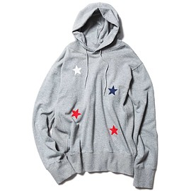 SOPHNET. - STAR EMBROIDERY PULL OVER HOODY