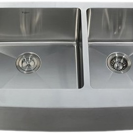 Kraus C-GV-104FR-14-12mm-10CH Frosted 14-Inch Black Glass Vessel Sink and Waterfall Faucet, Chrome