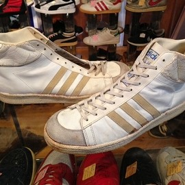 """adidas - 「<used>70-80's adidas JABBAR HI white/natural""""made in FRANCE"""" size:GB11/h(30cm)  24800yen」完売"""