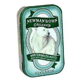 Newman's Own - Newman's Own Organics Mints, Wintergreen, 1.76-Ounce Packages (Pack of 6)
