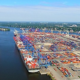 Hamburg / Germany - Hamburg Container Terminal