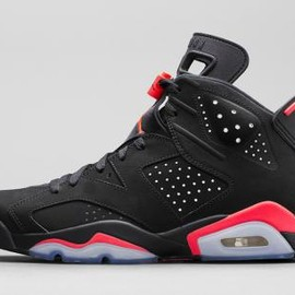 Nike - NIKE AIR JORDAN 6 RETRO BLACK/INFRARED 2014