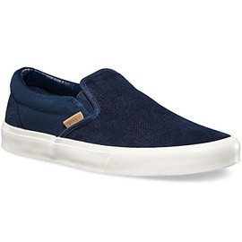 VANS - CLASSIC SLIP-ON KNIT SUEDE DRESS BLUE