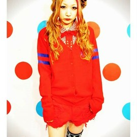 Candy stripper - STING THUNDERS BORDER SLEEVE KNIT CARDIGAN