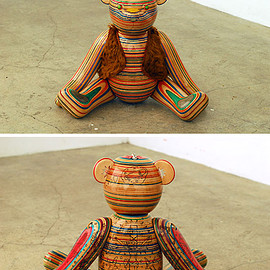 Haroshi - Bear|uses recyled skateboards