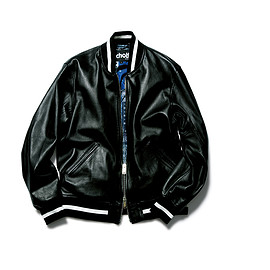 SOPHNET. - SCHOTT® LEATHER STADIUM JACKET