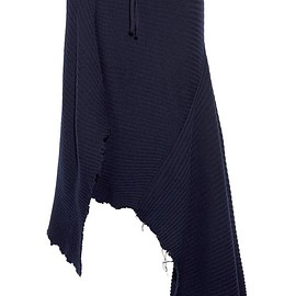 Marques' Almeida - Asymmetric ribbed wool skirt