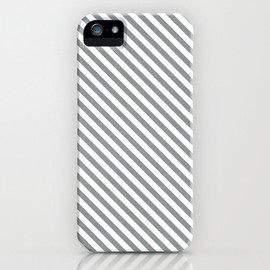 Society6 - diagonal stripes - gray iPhone & iPod Case